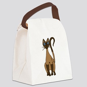 Sassy Siamese KwazyKatz Canvas Lunch Bag