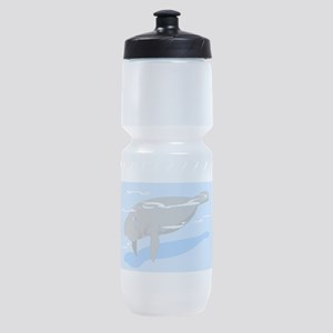 Grey Manatee Sports Bottle