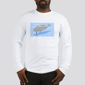 Grey Manatee Long Sleeve T-Shirt