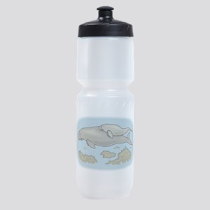 Manatee And Calf Sports Bottle
