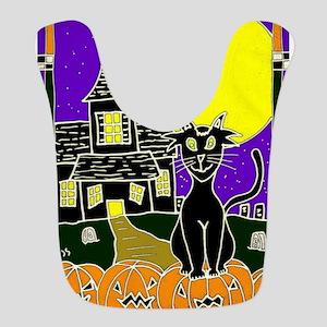 Halloween Black cat Bib