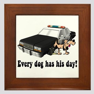 EVERY DOG HAS HIS DAY Framed Tile