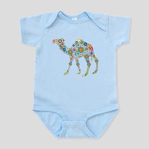 Colorful Retro Floral Camel Body Suit