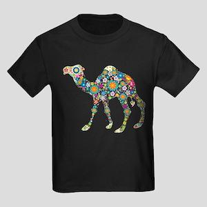 Colorful Retro Floral Camel T-Shirt
