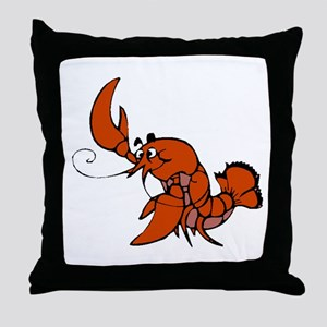 Red Lobster Throw Pillow