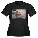 17 Mile Drive Women's Plus Size V-Neck Dark T-Shir
