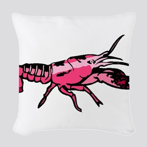 Lobster Woven Throw Pillow