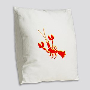 Red Lobster Burlap Throw Pillow