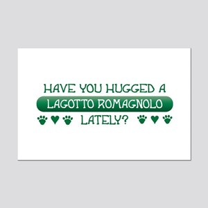 Hugged Lagotto Mini Poster Print