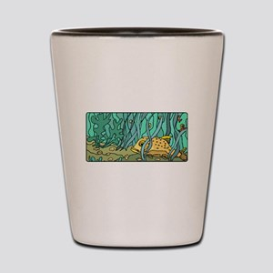Fish In Kelp Forest Shot Glass