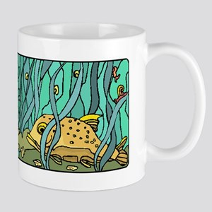 Fish In Kelp Forest Mugs