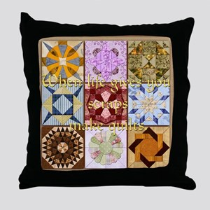 Harvest Moons Quilts Throw Pillow