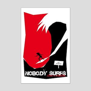 Nobody Surfs Like a Wahine Mini Poster Print