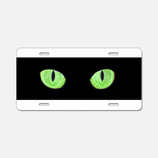 Unique Cat eyes Aluminum License Plate