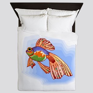 Colorful Betta Fish Queen Duvet