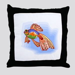 Colorful Betta Fish Throw Pillow