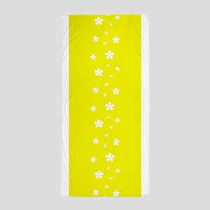 Yellow Mellow Peaceful 42 Beach Towel