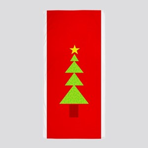 Christmas Tree Primitive Shapes Beach Towel