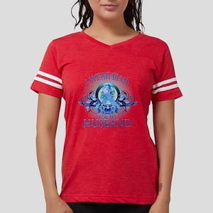I Wear Blue for my Husband (floral) T-Shirt