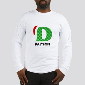 Christmas Letter D Monogram Long Sleeve T-Shirt