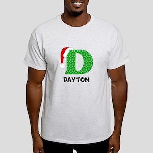 Christmas Letter D Monogram Light T-Shirt