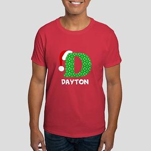Christmas Letter D Monogram Dark T-Shirt