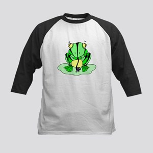 Frog Eating Fly Baseball Jersey