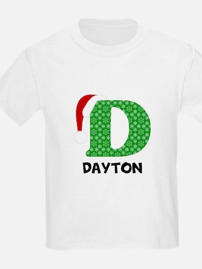Christmas Letter D Monogram T-Shirt
