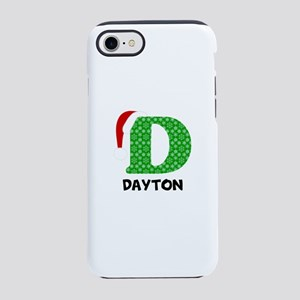 Christmas Letter D Monogram iPhone 7 Tough Case