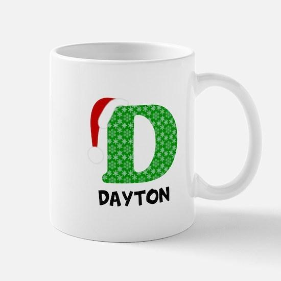 Christmas Letter D Monogram Mug