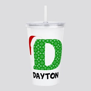 Christmas Letter D Mon Acrylic Double-wall Tumbler