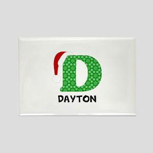 Christmas Letter D Monogram Rectangle Magnet