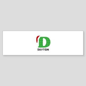 Christmas Letter D Monogram Sticker (Bumper)