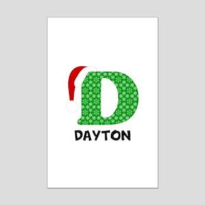Christmas Letter D Monogram Mini Poster Print