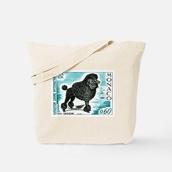 1975 Monaco Dog Show Poodle Postage Stamp Tote Bag