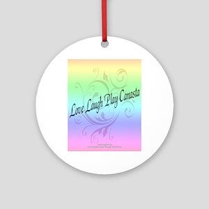 Laugh Play Canasta Ornament (Round)