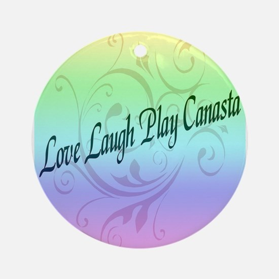 Laugh Play Canasta Ornament (Round)