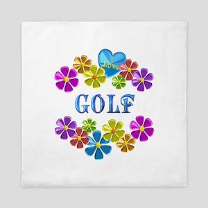 I Love Golf Queen Duvet