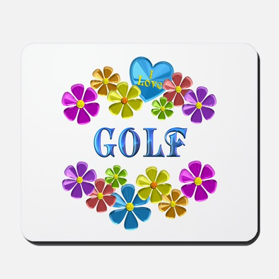 I Love Golf Mousepad