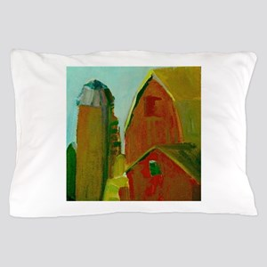 Old Red Barns And Silo Pillow Case