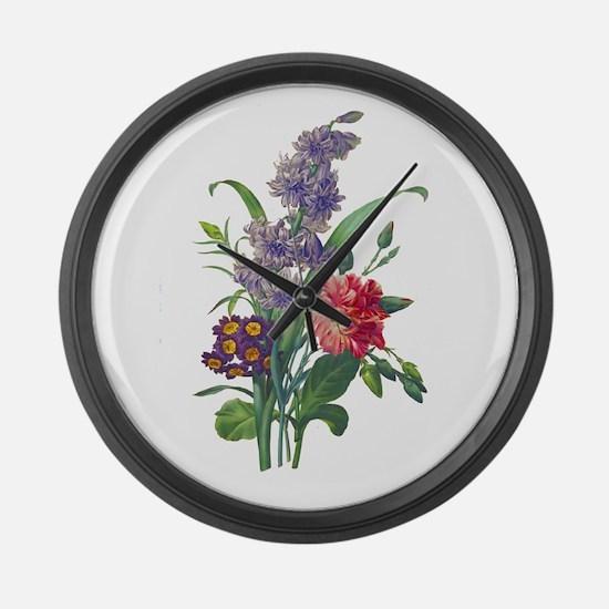Redoute - Hyacinth, Bear Ears and Large Wall Clock