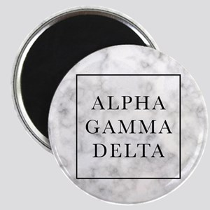 Alpha Gamma Delta Marble Magnet