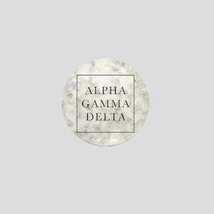 Alpha Gamma Delta Marble Mini Button