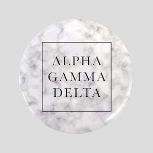 "Alpha Gamma Delta Marble 3.5"" Button"