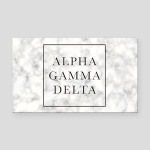 Alpha Gamma Delta Marble Rectangle Car Magnet