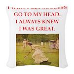 table tennis Woven Throw Pillow