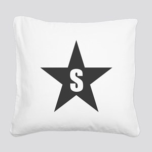 Letter in a Star Square Canvas Pillow
