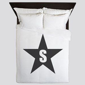 Letter in a Star Queen Duvet