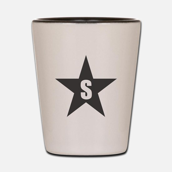 Letter in a Star Shot Glass