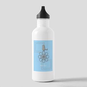 Holiday Season Blue Water Bottle